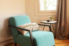 Villa Emma Gent: detail salon gastenkamer Acacia